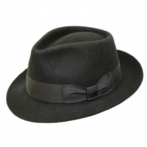 Black  Snap Brim Trilby Hat - Pennsylvania